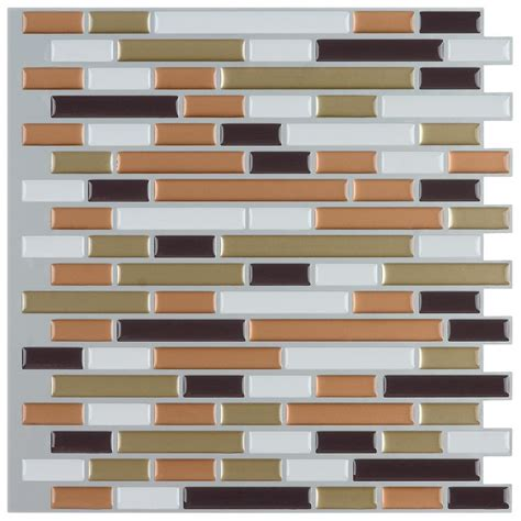 instant mosaic 12 in x 12 in peel and stick mosaic decorative wall tile 6 sq ft case
