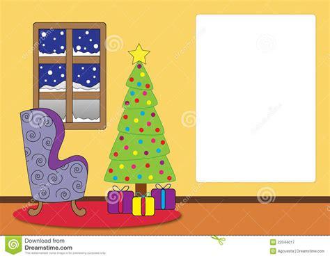 Christmas Livingroom by Christmas Living Room Cartoon Royalty Free Stock