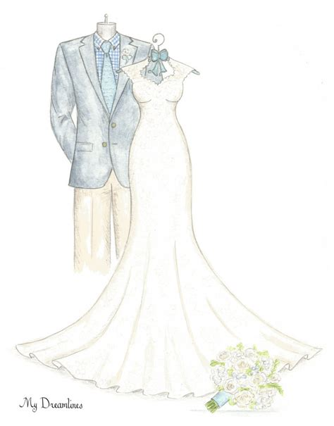 Wedding Sketch by S Day Gift Wedding Dress Sketch