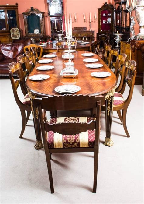 dining room top 10 vintage mahogany dining room set antique flame mahogany ormolu dining table and ten chairs