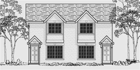 narrow lot duplex house plans 16 ft wide row house plans narrow lot duplex house 16 ft wide units