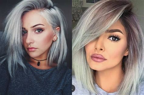 hair styles dare try ice cold silver bob hairstyles hairdrome com