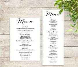 wedding menu sles templates printable menu template 9 free psd vector ai eps