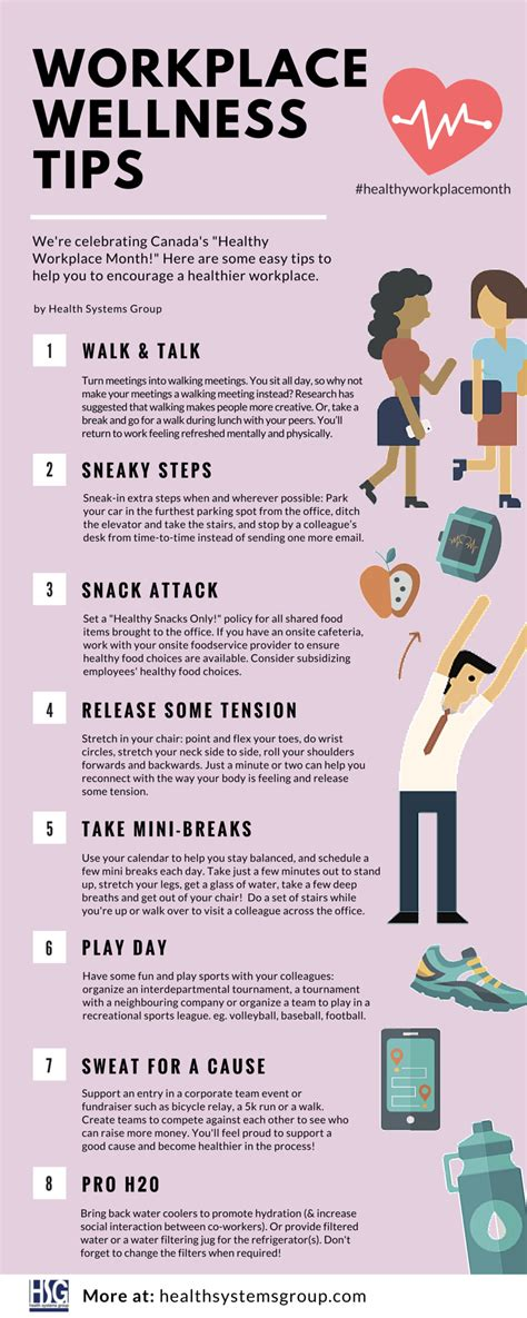 Workplace Wellness Tips Health Systems Group Workplace Fitness Challenge Template