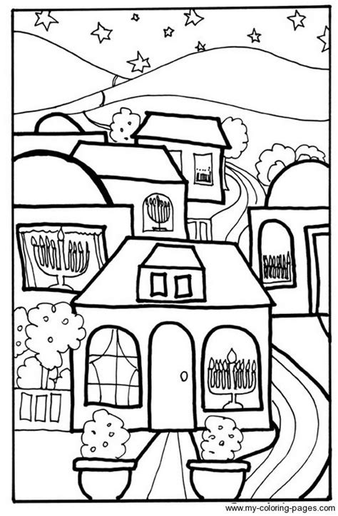 coloring pages of chanukah chanukah houses print out coloring sheet hanukkah crafts