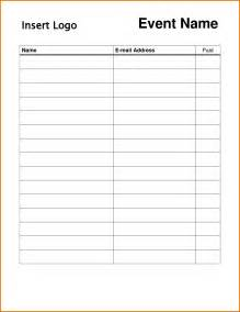8 sign in sheets templates plantemplate info
