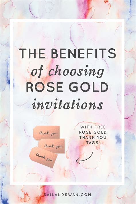 Rose Gold Invitations   The Benefits of Choosing Rose Gold