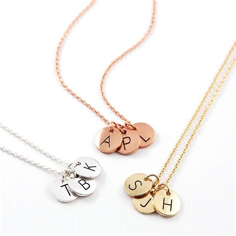 Letter Necklace Letter Disc Necklace By J S Jewellery Notonthehighstreet