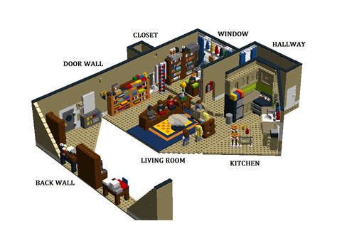 layout of big bang theory apartment lego ideas the big bang theory sheldon and leonard s