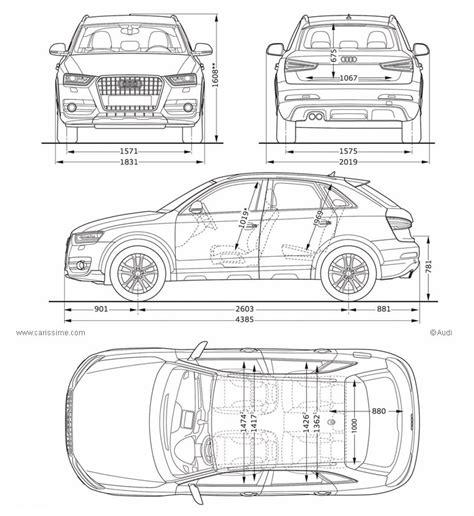 Abmessungen Audi Q3 by Audi Q3 Voiture Audi Q3 Fiche Technique