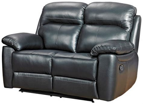 2 seater leather recliner sofa uk buy furniture link aston black leather 2 seater recliner