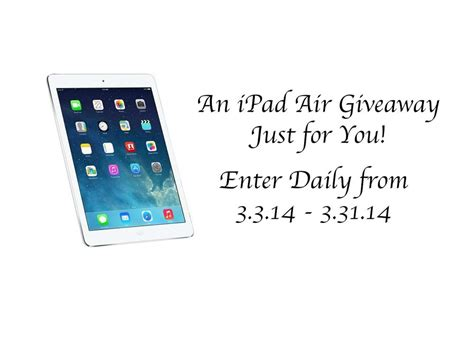 Ipad Air Giveaway - an ipad air giveaway just for you stushigal style