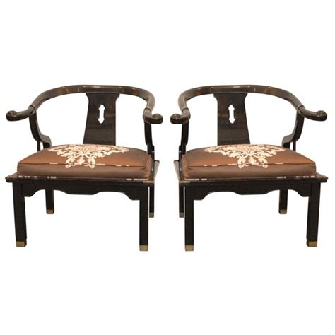 mont style lacquered asian chairs at 1stdibs - Asian Chairs