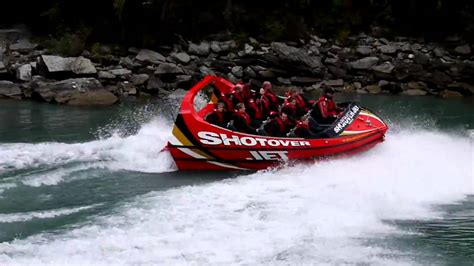 shotover jet boat video shotover jet boat ride queenstown new zealand hamilton