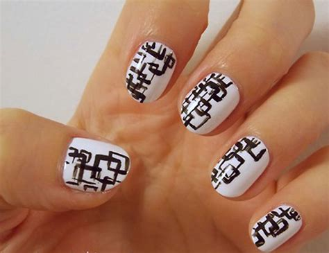 white and black pattern nails 25 unique black and white nail art designs 2015