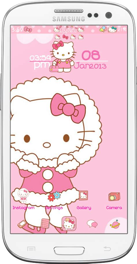 themes hello kitty go launcher pretty droid themes hello kitty winter go launcher theme