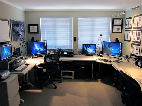 how to setup a home office in a small space mac setup the office of a creative director user