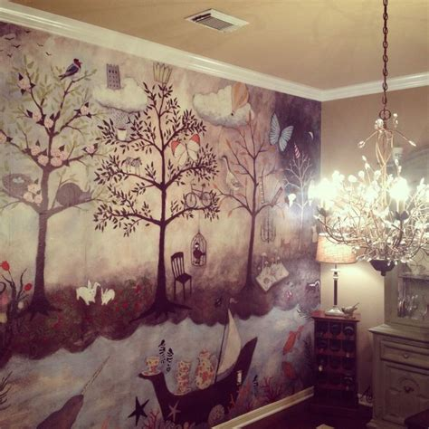 enchanted forest bedroom anthro enchanted forest mural maison pinterest