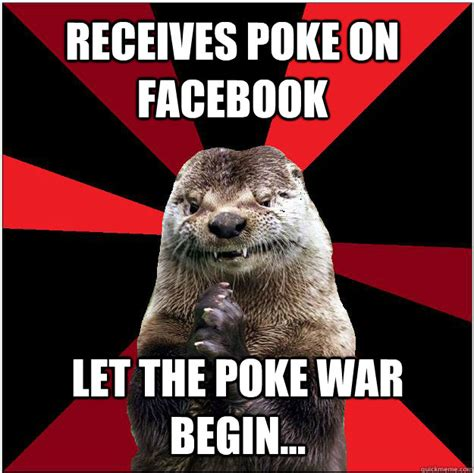 Poke Meme - receives poke on facebook let the poke war begin