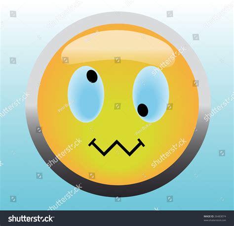 Veltore Cross Eye Cross Eye Smile Button On Blue Background Stock Vector