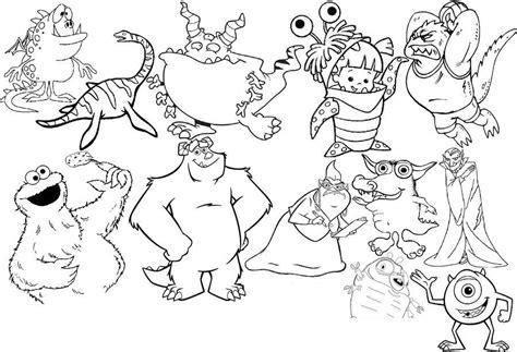 imagenes infantiles monstruos monstruos infantiles para colorear y divertirte dibujos