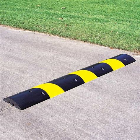 rubber st images rubber striped speed bump end caps