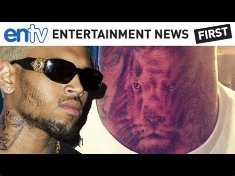 chris brown neck tattoo meaning chris brown talks about his new neck entv