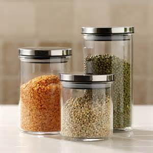 Clear Glass Kitchen Canisters decorative kitchen canisters and jars