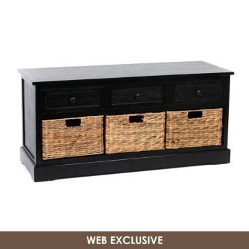 black storage bench with baskets black storage bench with baskets