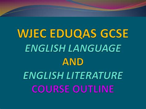 new gcse english literature aqa a english literature course outline by uk teaching resources tes