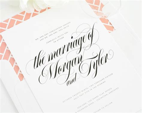 wedding invitations with individual names calligraphy names wedding invitations wedding invitations by shine