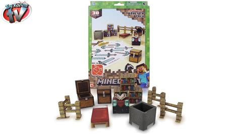 Minecraft Papercraft Overworld Set - minecraft papercraft overworld minecart pack from jazwares