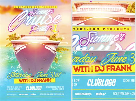 summer cruise party flyer template flyerheroes