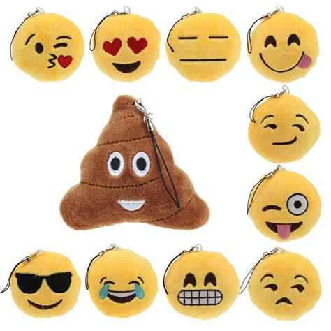 Gantungan Kunci Kartun Lucu Key Chain Holder Hck002 aliexpress comprar selljimshop lindo emoji smiley emoticon divertido cadena dominante