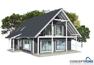 Small Affordable Homes by Small House Plan Ch137 In Nordic Architectural Style