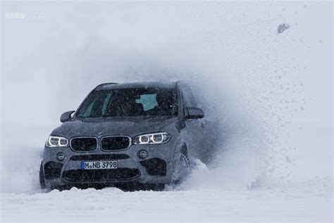 bmw in snow bmw x family plays in the snow