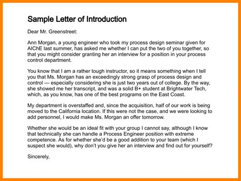 Letter Of Self Introduction To An Embassy 8 Self Introduction Letter For Introduction Letter