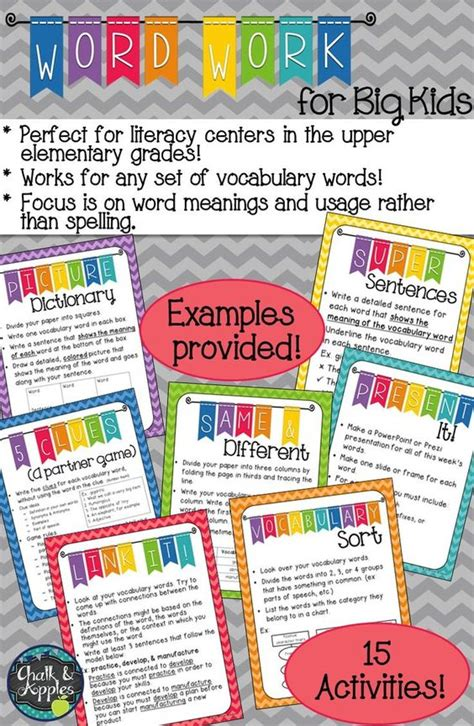 challenging vocabulary words words activities and student on