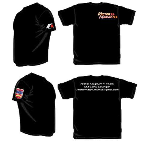 Baju Hitam vector magnum f1 team merchandises