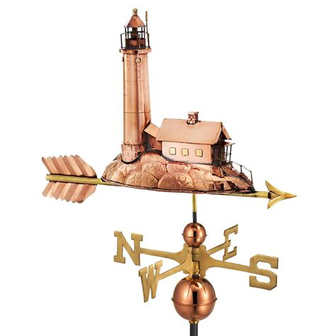 directions lighthouse weathervane copper 624p