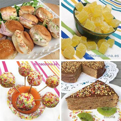 recetas de fiesta 10 recetas f 225 ciles para ni 241 os y fiestas infantiles divina cocina