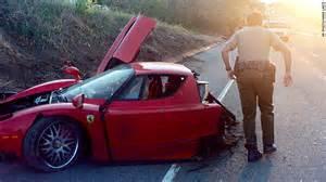 Crashed Enzo Once Split In Half In Crash Goes Up For Auction