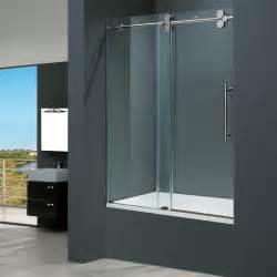 bath glass shower doors frameless glass vigo 60 inch clear glass frameless tub