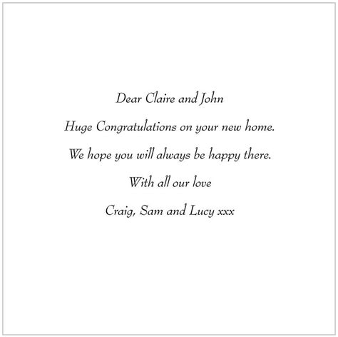 message for a new home card by glyn west design