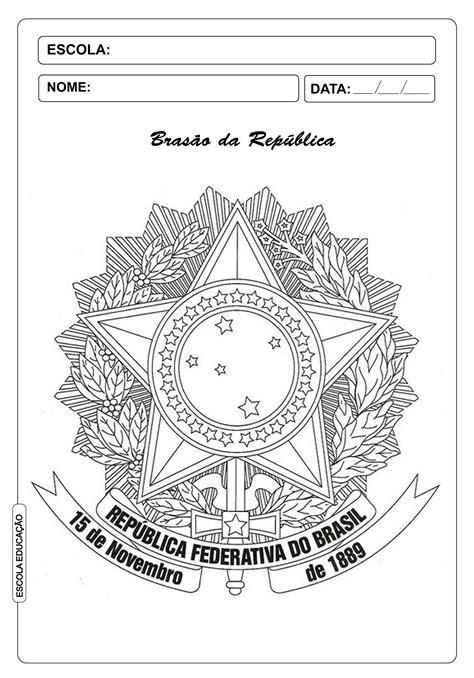 Brasão da República para colorir - Atividades para