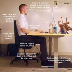 proper sitting posture at desk hosmer chiropractic proper ergonomic desk workstation