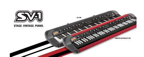 Update Keyboard Korg korg updates sv 1 with black and retro look models namm12 piano and synth magazine