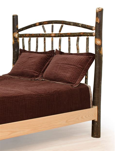 wagon wheel headboard rustic hickory and oak