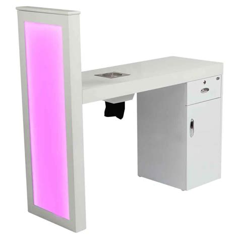 manicure table with built in led light manicure station with built in dust collector nail table