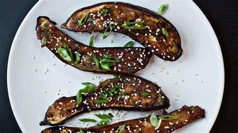 ginger miso glazed eggplant recipe bon appetit